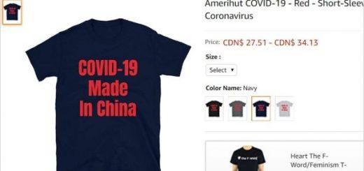 怒! 亚马逊竟出售新冠病毒T恤! 公然侮辱受害者 华人不能忍!