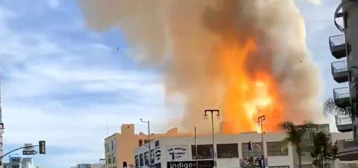 洛杉矶市中心发生连环爆炸! 现场升起蘑菇云 火球吞噬十余人 原因令人愤怒!