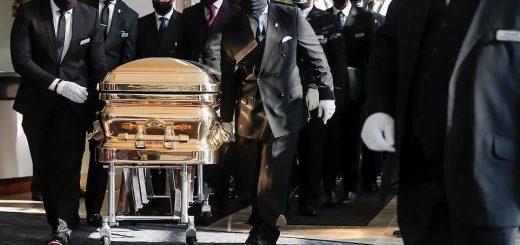 """201万!堪比国葬,一场白人跪倒黑人脚下的葬礼,跪下的拜登亲赴""""捧场"""""""