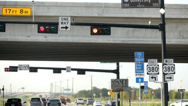 The intersection of the Dallas North Tollway and Highway 380 in Prosper and Frisco, Texas, Thursday, September 5, 2019.